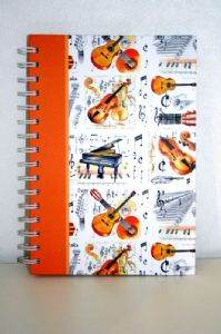 Musical Themed A5 Note Book.